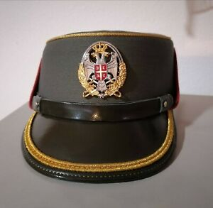 SERBIAN ARMY Visor hat FEMALE With officer Badge Insignia Ground Forces