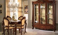 Vitrine Vitrinenschrank Wohnzimmerschrank Drei Türen Nussbaum Italienische Möbel