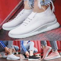 Womens Slip On Sneakers Trainers Walking Breathable Sport Running Comfy Shoes