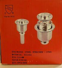 Sus304 Strainer (#114) Kitchen Sink Stainless Steel Strainer St03 Satin Finish