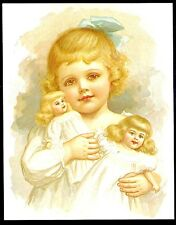 "New Post Card Drawings by Ida Waugh Mammy's Baby Published in 1890 5 1/2"" x 7""."