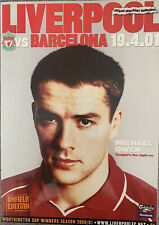 LIVERPOOL V BARCELONA UEFA CUP SEMI FINAL 2000/01 WITH TEAM SHEETS AND MORE