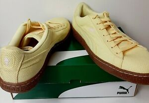 New Puma Basket Ripstop IC Mellow Yellow-White Swan Size 8.5 & 10.5 Available