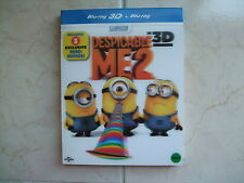 Despicable Me 2 (2014, Blu-ray) Lenticular Limited Edition / 2D + 3D