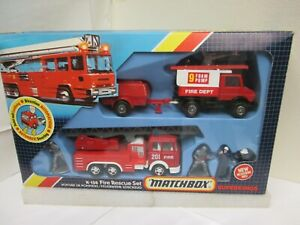 Matchbox Super King #K-138a  Fire Rescue Set  w/ box