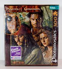 Buffalo Games Photomosaic Puzzle Pirates of Caribbean 300 Pc & Bonus Poster NIB