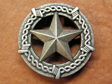 """Western Equestrian/Leather Tack Set of 6 Antique Pewter Star 1 1/2"""" Conchos (6)"""