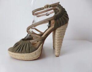 LEONA BY LEONA EDMISTON Women's Shoes NEW  Size 40  Leather Open Toe High Heels