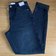 BNWT Topshop Blue Black Mom Jeans - W26 L34 - UK 8