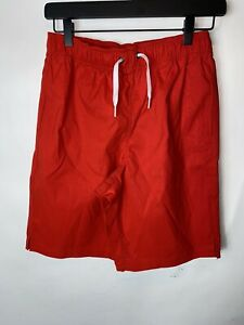 NWT HANNA ANDERSSON STRETCH ACTIVE SWIM SHORTS TREK Red 160 14 16 NEW! *flaw