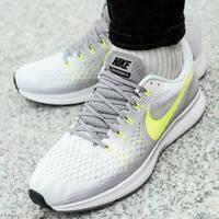 NIKE AIR ZOOM PEGASUS 34 Running Trainers Gym - UK Size 7.5 (EUR 42) White Grey