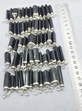 Natural Black Tourmaline sterling silver necklace 05 pcs lot crystal pendants