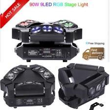 Lixada 90W 9LED RGBW DMX512 Beam Partylicht Spider Moving Head Bühnenbeleuchtung