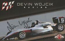 2017 Devin Wojcik signed Arms Up Motorsports Mazda USF2000 postcard
