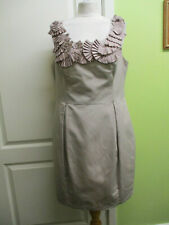 WOMENS SMART TAUPE PENCIL DRESS SIZE 16 BY DEBUT