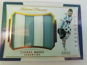2018 National Treasures Lionel Messi JERSEY JUMBO COLOSSAL 08/35 Argentina