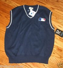 MLB Baseball Sweater Vest Shirt  - Small - Navy, New With Tags, Sleveless