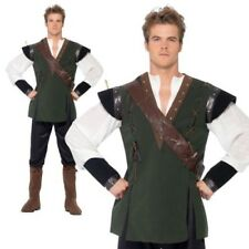 Smiffy's Robin Hood Costume Trouser and Shirt - Green Large