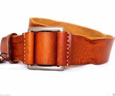 Genuine full Leather belt 43mm men women Waist handmade light brown size S new
