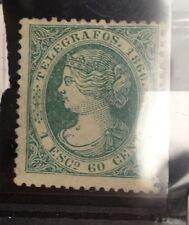 1866 Yt15 Télégraphe Timbres ESPAGNE colección de sello España Spain Stamps