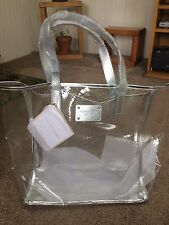 NEW MICHAEL KORS CLEAR LARGE TOTE BAG..TRAVEL BEACH BAG..GREAT FOR WEEKEND