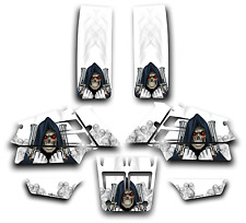 YAMAHA BANSHEE GRAPHICS DECAL KIT GRIM REAPER REVENGE STICKER WRAP WHITE