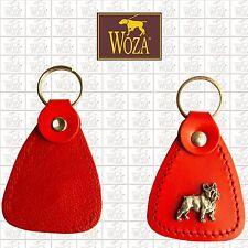 WOZA Premium 20x Schlüsselanhänger Französische Bulldogge Vollleder Rindnappa A7