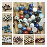 4/6/8/10MM Natural Gemstone Round Spacer Beads Jewelry Bracelet Making Gift DIY