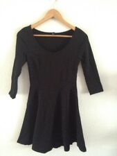 H&M Stretch Jersey Dress Size S Black Long Sleeve <R11561