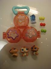 3x Littlest Pet Shop LPS Hasbro Hamster Petriplets Zubehör Set #1477 #1478 #1479