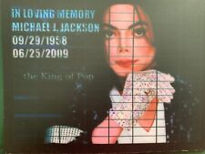MICHAEL JACKSON IN MEMORY,   ,,,  SOUND ACTIVATED FLASHING PANEL   8