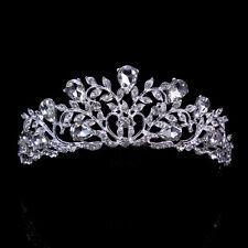 4.5cm hoch Blatt Tropf Hochzeit Braut Haarschmuck Haarreif Krone Diademe Tiara