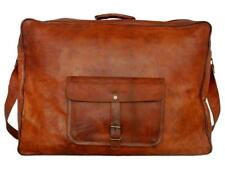 Vintage Leather travel luggage Suitcase overnight weekend duffel Laptop Bag New