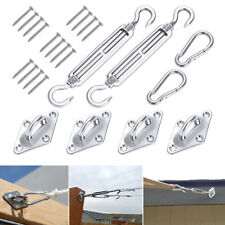 Sun Sail Shade Canopy Stainless Steel Fixing Fittings Hardware Accessory Kit UK