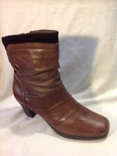 Earth Spirit Brown Mid Calf Leather Boots Size 8