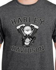 Harley Davidson   Engine  Dark Heather T-shirt  Ideal   Birthday Gift