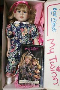 "🔴 VTG My Twinn Doll 23"" 1996 COOKIE Denver Era Blond Blue Eyes -Extras"