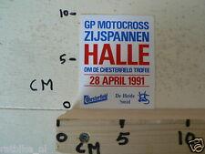 STICKER,DECAL HALLE GRAND PRIX SIDECARS 28 APRIL 1991, MX