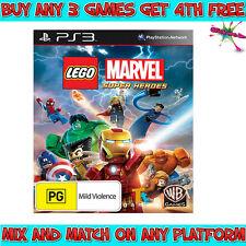 LEGO MARVEL SUPER HEROES Game (Playstation 3, PS3) Australian PG Rating
