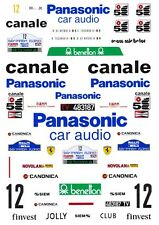 #12 Panasonic Ferrari 308GTB 1982 1/32nd Scale Slot Car Decals