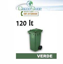 Cassonetto/Pattumiera/Contenitore/ per raccolta rifiuti uso esterno 120lt Verde
