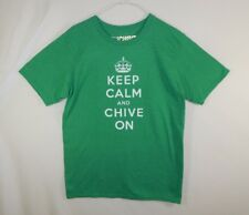 Keep Calm and Chive On KCCO Mens Green T Shirt Size MEDIUM M