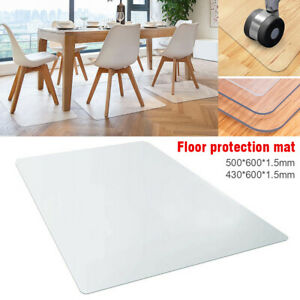 Clear Office Chair Mat Floor Protector Computer Desk Wood Floor Protection Cover