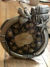 Pewter Frame With Dried Pressed Flowers