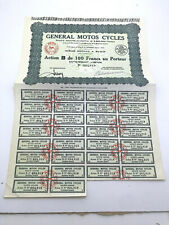 ACTION GENERAL MOTO CYCLES VELO BYCICLETTE