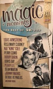 Magic Moments: The Best of '50s Pop 4 CD Box Set AM Radio Popular Hit Songs