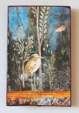 Pompeji Peristyls Zweig Garten Vogel Casa della Venere Fresko auf Ziegel 37
