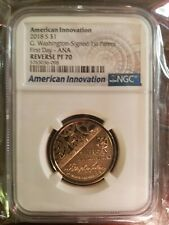 2018 REVERSE PROOF AMERICAN INNOVATION $1 NGC REVERSE PF70 First Day - ANA