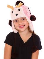 Toddler Kids Unisex Christmas Fleece Warm Winter Deer Hat Earflap Cap