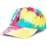 NEW POLO hat NWT rainbow tie dye baseball cap ralph lauren tiedye blue yellow